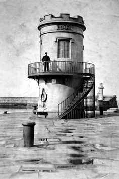 Whitehaven Lighthouse. Whitehaven was a fishing village until the 17th century. Cumbria, England.