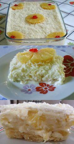 Pavê de abacaxi com coco  #pavê #pavêdeabacaxi#comida #culinaria #gastromina #receita #receitas #receitafacil #chef #receitasfaceis #receitasrapidas