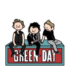 art My art fan art Green Day Billie Joe Armstrong Mike Dirnt Tre . Emo Bands, Music Bands, Rock Bands, Punk Rock, Green Day Band, Arte Emo, Green Day Billie Joe, Rock And Roll, American Idiot