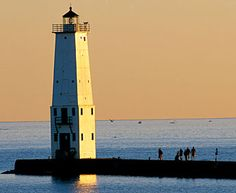 Frankfort North Light: Located in Benzie county, Michigan, on the outer end of north breakwater.