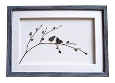 Pebble Art Love Birds Romantic gift for couple by PebbleArtDream