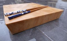 Japanese Style - European Beech  A small, beautiful looking, hand crafted, Japanese style cutting board with elegant chamfered edges; made from