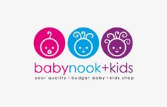 Baby Nook & Kids Logo Design - by Angus Ewing www.angusewing.com Baby Nook, Kids Cafe, Logos, Baby On A Budget, Branding, Bbc Good Food Recipes, Kids Logo, Shop Plans, Shop Logo