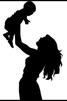 Mother Holding Baby Silhouette clip art - vector clip art on . Baby Silhouette, Silhouette Cameo, Person Silhouette, Mother Art, Mother And Child, Holding Baby, Crayon Art, Mothers Love, Happy Mothers