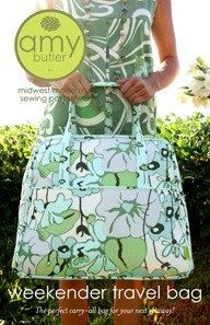 Amy Butler Weekender Travel Bag Sewing Pattern FREE by Ahmelie