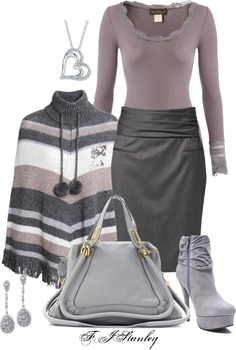 """Grey & mauve"" by fiona-stanley ❤ liked on Polyvore"