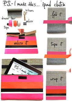 No-Sew DIY iPad / Kindle / Nook / Whatever Clutch | One Good Thing by Jillee