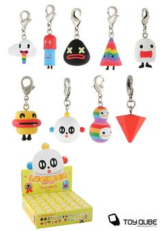Luckies zipper pulls by FriendsWithYou, blind boxes - $4 each