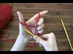How to Cast on - Online Knitting Tutorials for Beginners - YouTube
