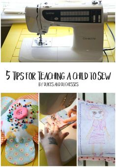 Teach your child a life-long skill with these 5 tips for teaching a child to sew!