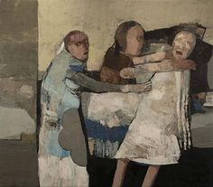 JEAN PIERRE RUEL, Un combat 2010, huile sur toile / oil on canvas