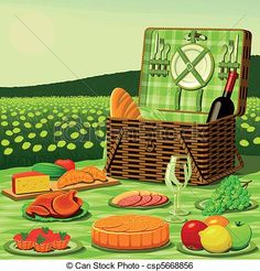 Picnic Illustrations and Clipart. 2,983 Picnic royalty free ...