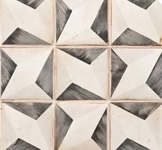 Tiempo tile takes its aesthetic cue from traditional patterns found in France and Spain. Designs are handpainted onto rustic terra cotta tiles that have been distressed. Imperfections are evident, which lends the tiles the rich look of centuries-old terra cotta.
