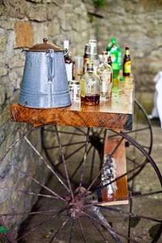 http://www.visionairestudios.com/lawrenceweddingphotography Country Wedding! Whisky Bar Cart Idea! DIY country bar! Circle S Ranch in Lawrence, KS