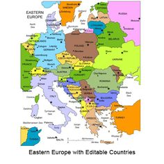 Map of East Europe, blank, printable East European map, Travel Europe, downloadable, editable countries, political map, Europe map with countries, tour Europe