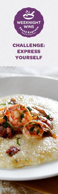 recipe for Shrimp & Grits. Chef Recipes, Seafood Recipes, Vegetarian Recipes, Cooking Recipes, Bien Tasty, Tastemade Recipes, Shrimp N Grits, Shrimp Dishes, Pescatarian Recipes