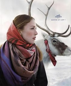 "Hermes ad. ""Winter at last!"""
