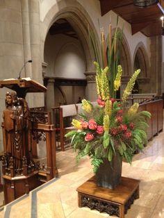 Chancel flowers lectern side
