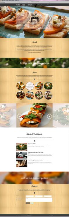 Kind Table Website Design and Development by Coral Silverman, via Behance