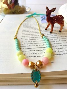 A personal favorite from my Etsy shop https://www.etsy.com/listing/232254409/pastel-necklace-pastel-statement