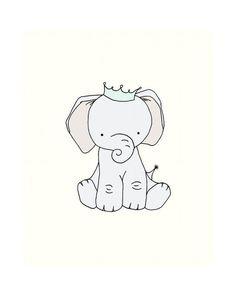 Elephant Nursery Art Little Elephant Prince by SweetMelodyDesigns ...