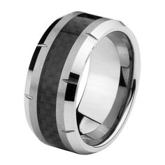 *Laser Engraving Service* 10mm Black Carbon Fiber Tungsten Comfort-fit Wedding Band Ring (Size 7 to 15) >>> Check out @ http://www.amazon.com/gp/product/B007V7RJ54/?tag=splendidjewelry07-20&pvw=260716071223