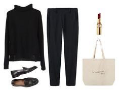 """""""French"""" by trenchcoatandcoffee ❤ liked on Polyvore featuring jucca, Thakoon and Yves Saint Laurent"""