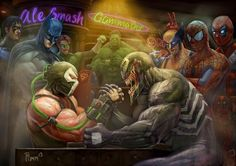 Bane vs. Venom and, lets look at the bigger picture here: DC vs Marvel