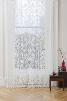 Premium Sheer Panels: The Melrose Ikea Curtains, Yellow Curtains, Drop Cloth Curtains, Floral Curtains, Damask Curtains, Roman Curtains, Patterned Curtains, French Curtains, Double Curtains