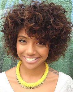 Cute Black Girl Short Curly Hairstyles 2015
