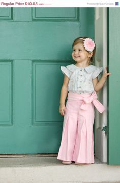Fall Sale Whitney Trousers & Skirt PDF Pattern and Tutorial, All sizes 2- 10 years included, $7.66