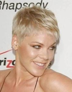 10 Very Short Pixie Haircuts: #7. Pink – Cute Very Short Straight Pixie Cut
