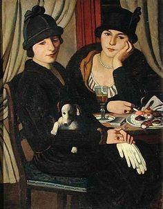 Pietro Marussig Donne al caffe. 1924 г.