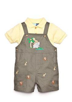 Good Lad 2-Piece Polo Shirt and Noah's Ark Shortall Set