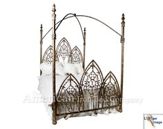 Gothic canopy $3000, headboard only $1400