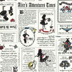 Alice in Wonderland Adventure - Cotton Linen Mix