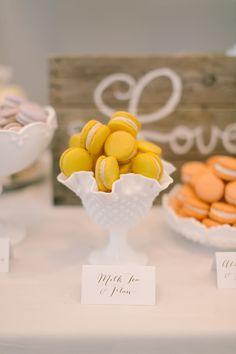 a #macaron bar Photography: Ruth Eileen Photography - rutheileenphotography.com  Read More: http://stylemepretty.com/2013/10/16/newport-wedding-from-ruth-eileen-photography/