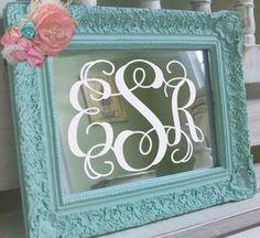 Mirror and monogram.
