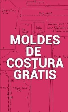 Costura Moldes - Best Sewing Tips Sewing Hacks, Sewing Tutorials, Sewing Projects, Sewing Clothes, Diy Clothes, Dress Sewing, Sewing Patterns Free, Free Pattern, Love Sewing