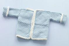 Martha Stewart Knitting Loom Patterns | Free Loom-Woven Pattern L10239 Loom Woven Baby Cardigan With Loom Knit ...
