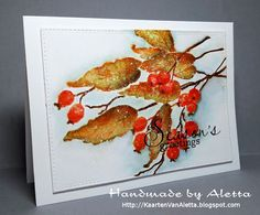 Handmade by Aletta: Penny Black Berry Kissed