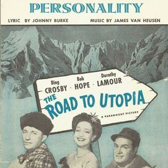 Vintage sheet music in my Etsy shop.  #personality #roadtoutopia #bingcrosby #bobhope #dorothylamour #vintage #vintageteam #tvat #tvusa #oldhollywood #classicmovie #sheetmusic by theresnoplacelikevintage