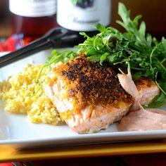 Sriracha Breaded Salmon - Feed Your Soul Too