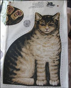 this is the exact cat pillow, see nyc tenement building pillows for reference.