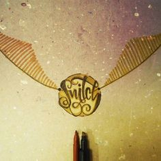 I open at the close #Snitch #Caligrafía #Quidditch #Markers #Wings #Harrypotter #Magic #Lettering #Calligraphy