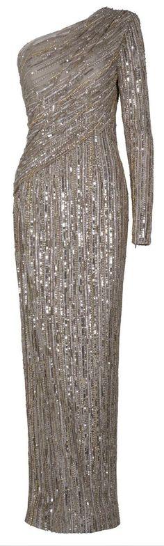 EASTLAND  One Shoulder Sequin Gown