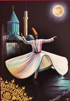 Discover the Top 25 Most Inspiring Rumi Quotes: mystical Rumi quotes on Love, Transformation and Wisdom. Moroccan Art, Turkish Art, Arabic Calligraphy Art, Arabic Art, Islamic Paintings, Sewing Art, Dance Art, Egyptian Art, Mosaic Art
