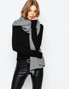 Pieces | Pieces Ribbed Oversized Blanket Scarf at ASOS £16