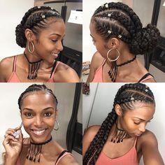 pitre Christmas Braids, Yes please!Tutorial coming soon❤️❤️ Kersti Anear.pitre Christmas Braids, Yes please!Tutorial coming soon❤️❤️Kersti Anear.pitre Christmas Braids, Yes please!Tutorial coming soon❤️❤️ Box Braids Hairstyles, Summer Hairstyles, Girl Hairstyles, Protective Hairstyles, Protective Styles, Hairstyles 2018, Black Hairstyles, Goddess Hairstyles, Goddess Braids Updo