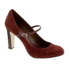 Banana Republic Gracie Suede Mary Jane Pump ❤ liked on Polyvore